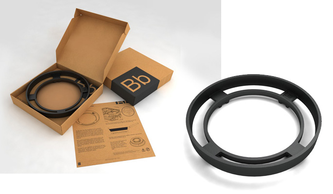 Bigblue support ring with cardboard packaging