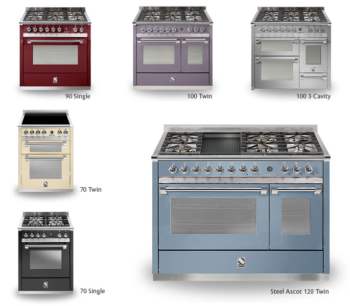 ascot from steel cucine - now available from rangecookers.co.uk ... - Steel Cucine
